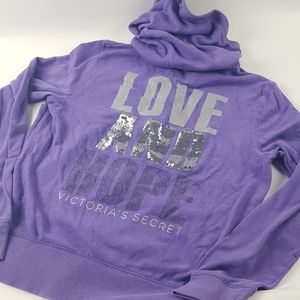 Purple large Victoria secret zip up jacket